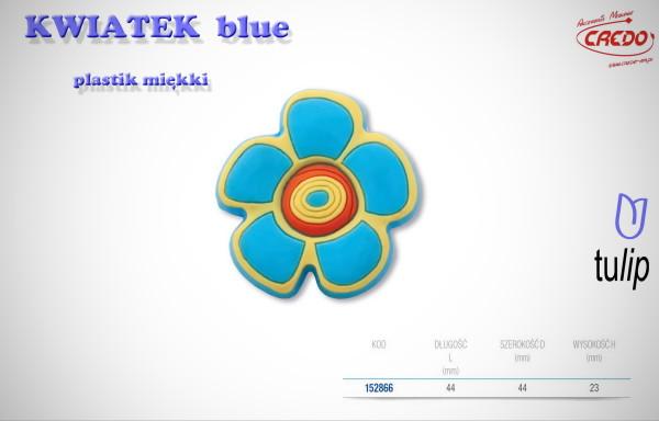 Gałka KIDS KWIATEK blue