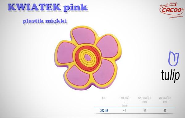 Gałka KIDS KWIATEK pink