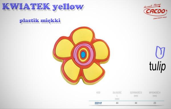 Gałka KIDS KWIATEK yellow