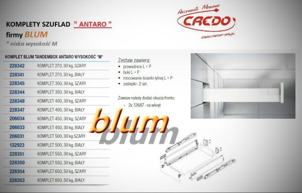 ANTARO-BLUM – kompletna prowadnica do szuflad wysokość 'M'