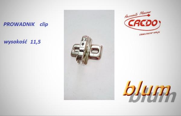 Zawias BLUM – Prowadnik H-11,5 bez wkrętów