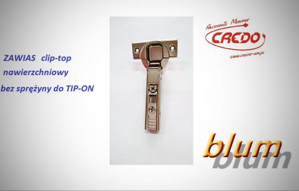 Zawias BLUM – CLIP TOP 110 stopni  TIP – ON Bez sprężyny