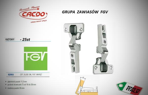 Zawiasy FGV – Slide on minus 25 stopni