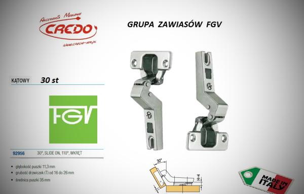 Zawiasy FGV – Slide on   30 stopni