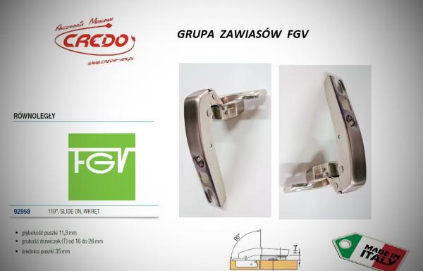 Zawiasy FGV – Slide on równoległy 110 stopni