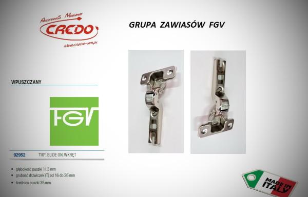 Zawiasy FGV – Slide on  wewnętrzny  110 stopni