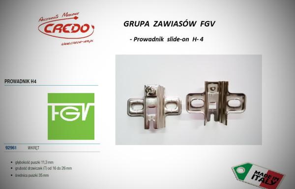 Zawiasy FGV – Prowadnik H-4 bez wkrętów