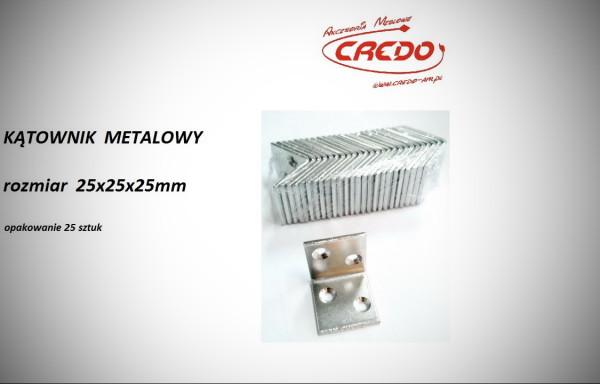Kątownik metalowy 25x25x25