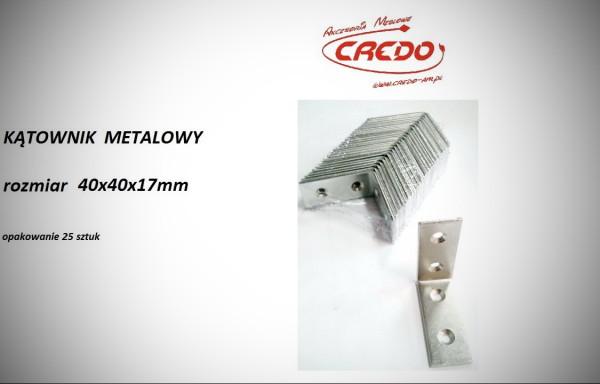 Kątownik metalowy 40x40x17