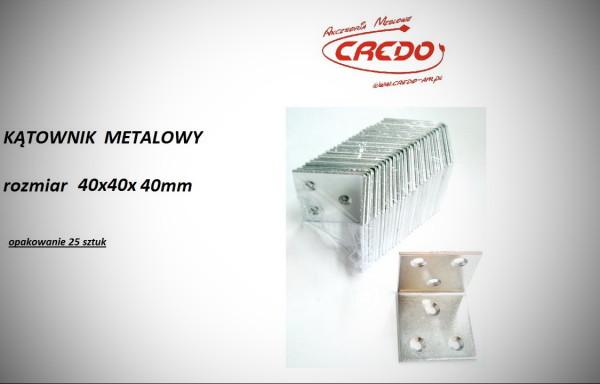 Kątownik metalowy 40x40x40