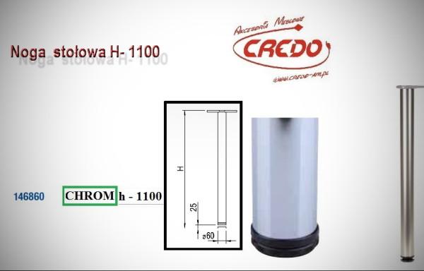Noga meblowa fi60 H1100 Chrom