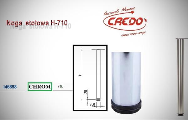 Noga meblowa fi60 H710 Chrom