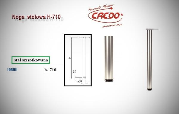 Noga meblowa fi60 H710 stal szczotkowana (INOX)