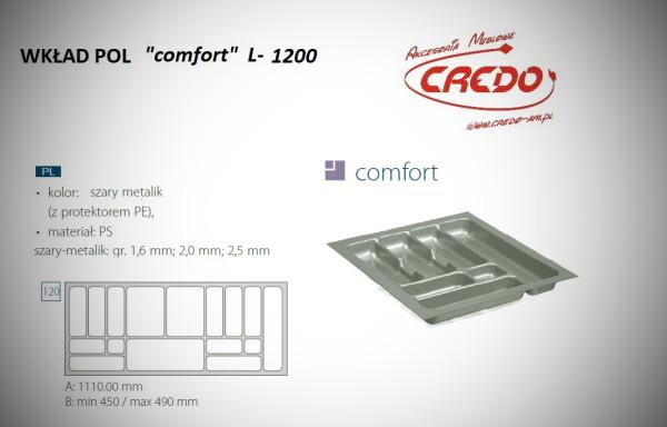 """Wkład na sztućce do szuflady 120cm """"comfort – PROSTY"""""""