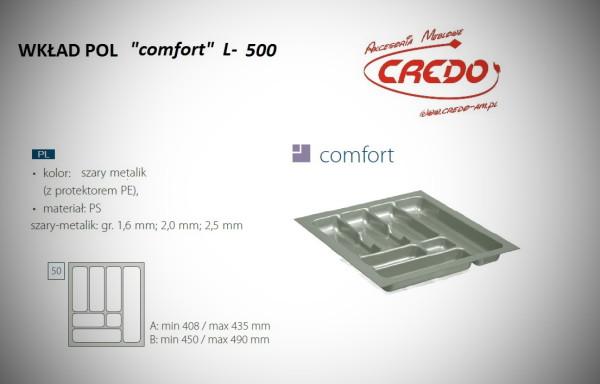 """Wkład na sztućce do szuflady 50cm """"comfort – PROSTY"""""""