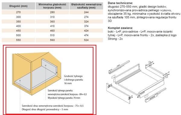 STRONGBOX – Przygotowanie płyt pod szufladę H86