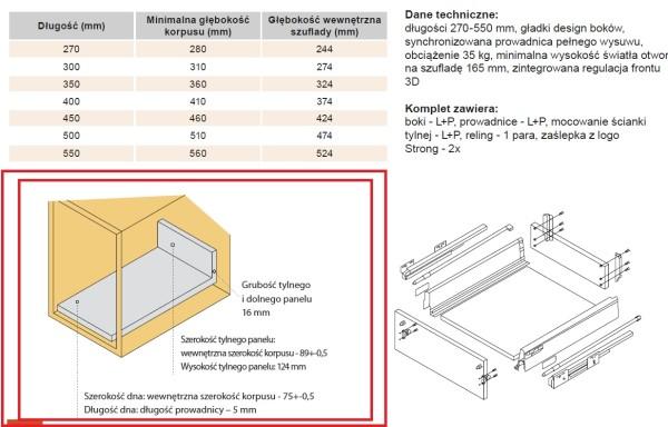 STRONGBOX – Przygotowanie płyt pod szufladę H140