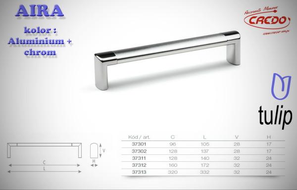 Uchwyt Meblowy  AIRA aluminium + chrom