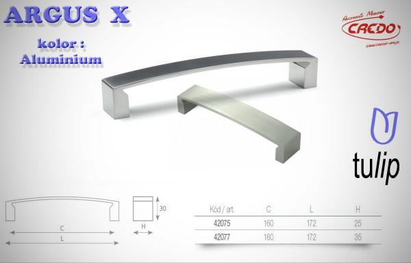 Uchwyt Meblowy ARGUS X aluminium