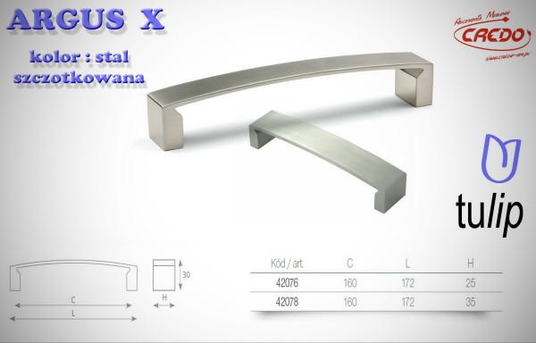 Uchwyt Meblowy ARGUS X stal szczotkowana (inox)