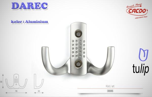 Wieszak meblowy DAREC aluminium