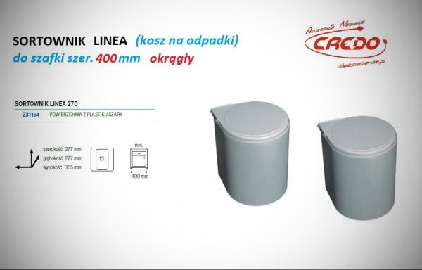 Kosz – sortownik na odpadki LINEA 270 szafka 400mm
