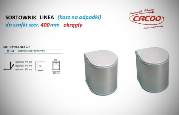 Kosz – sortownik na odpadki LINEA 272 szafka 400mm