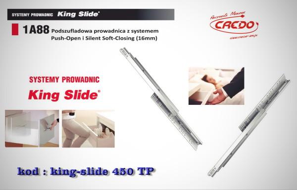 Prowadnica 'KING-SLIDE' L-450 system Push oraz Blumotion 2w1