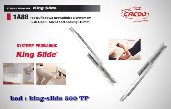 Prowadnica 'KING-SLIDE' L-500 system Push oraz Blumotion 2w1