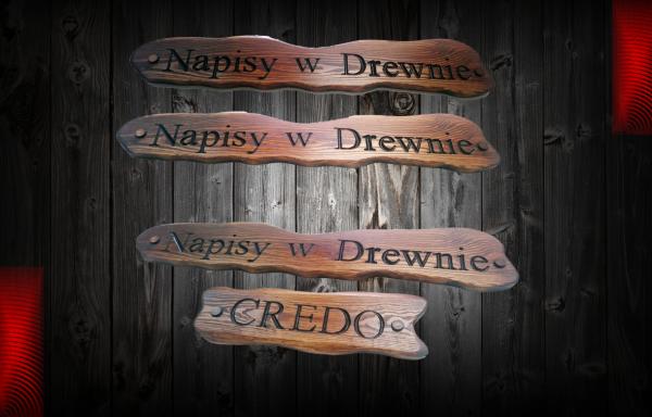 Napisy w drewnie