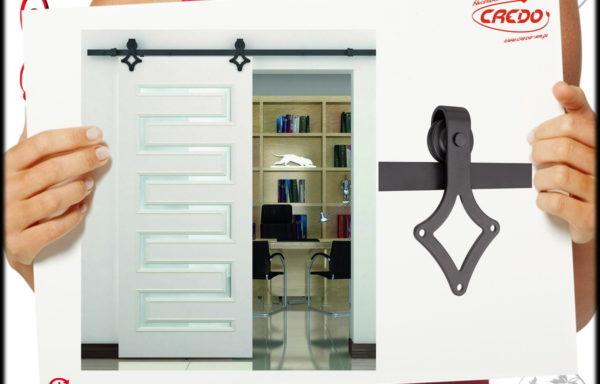 System drzwi przesuwnych LOFT Barnio SQUARE 2m 80kg miękki domyk