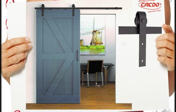 System drzwi przesuwnych LOFT Barnio Simple 2m 80kg miękki domyk